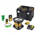 DCE079D1G DeWALT akumuliatorinis rotacinis nivelyras + Statybinis trikojis + DCR017 radija - įkroviklis