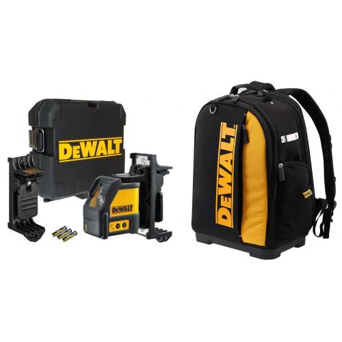 DeWALT DW088K 2 krypčių savaime susireguliuojantis lazeris + DWST81690-1 įrankių kuprinė