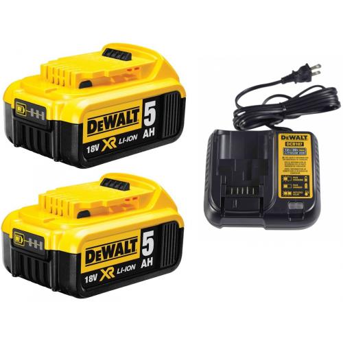 DCB107P2 DeWALT baterijų ir įkroviklio rinkinys