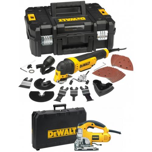 DWE315KT DeWALT daugiafunkcinis įrankis + DW331K 701 W - siaurapjūklis