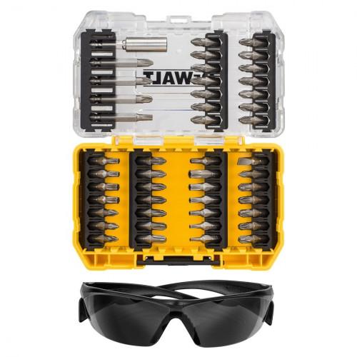DT70703 DeWALT 47 vnt. sukimo antgalių rinkinys + apsauginiai akiniai