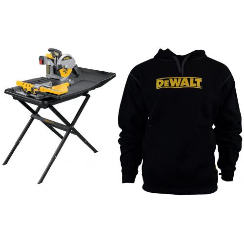 D24000 DeWALT pjūklas plytelėms + D240001 stovas + DWC47-001 džemperis