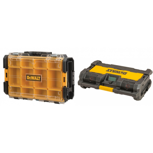 DWST1-75522 DeWALT TOUGHSYSTEM dėžė + DWST1-75659 TOUGHSYSTEM radija