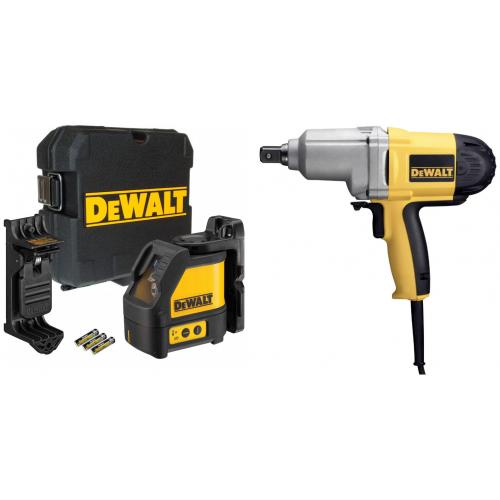 Įrankių rinkinys smūginis veržliasukis DeWALT DW292 + 2 krypčių savaime susireguliuojantis lazeris DeWALT DW088K
