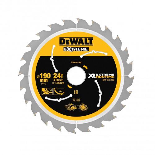 DeWALT FLEXVOLT EXTREME pjovimo diskas medienai 190x30 mm