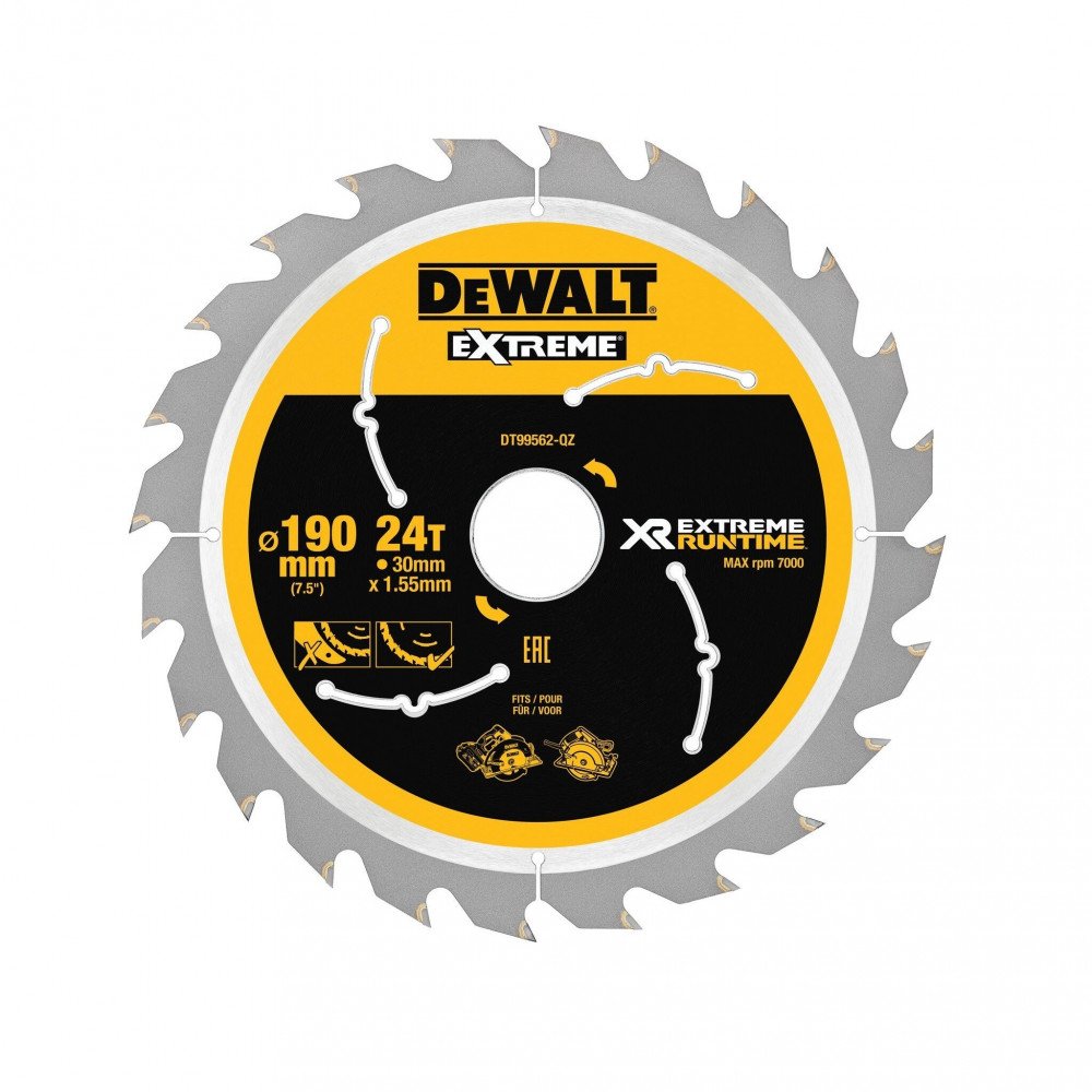 DeWALT FLEXVOLT EXTREME pjovimo diskas medienai 250x30 mm
