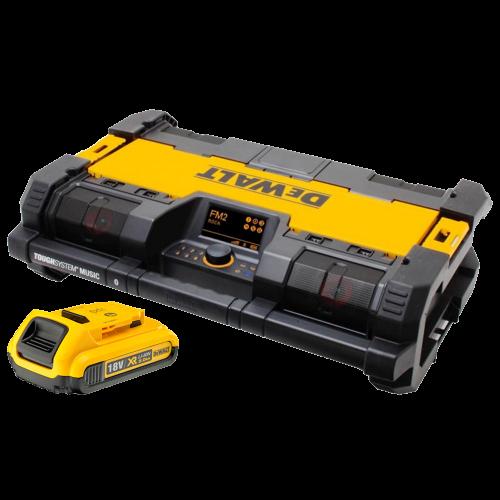 DWST1-75663 DeWALT TOUGHSYSTEM radija - baterijų kroviklis + DCB183 18V 2.0 Ah baterija