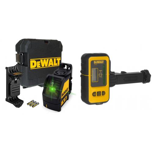 IrankisPlius.lt|Lazerinis nivelyras + lazerio detektorius | DeWALT | (DW088CG DE0892G)