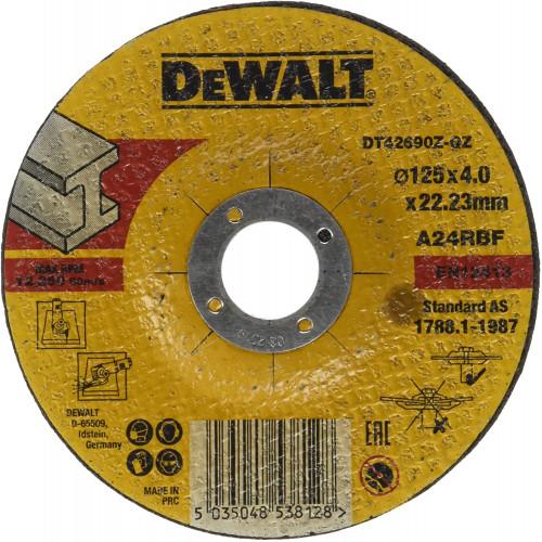 DT42690Z DeWALT pjovimo/šlifavimo diskai 125x4mm (10 vnt.)