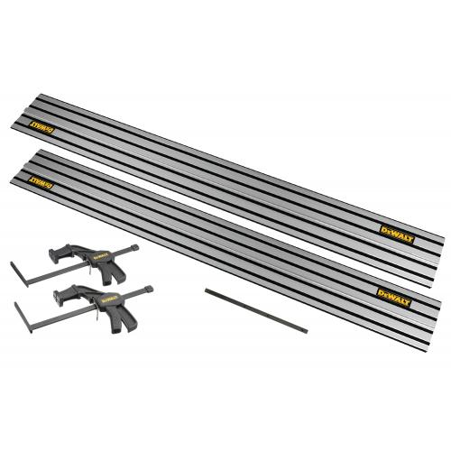 DWS5022 DeWALT 1,5 m kreipančioji liniuotė (2 vnt.) + DE6292 jungtis + DWS5026 spaustuvai