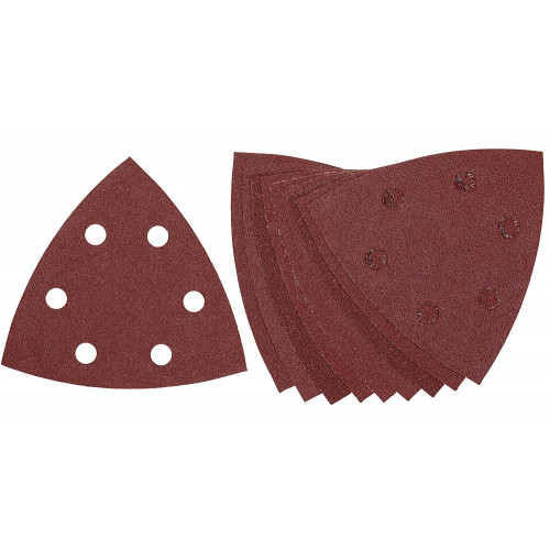 DeWALT trikampis šlifavimo popierius 93x93 mm, 40G-240G (10 vnt.)