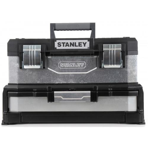1-95-830 Stanley 20''plastikinė įrankių dėžė su stalčiumi