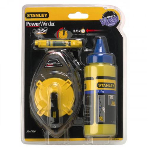 0-47-465 Stanley PowerWinder matavimo virvės rinkinys 30m