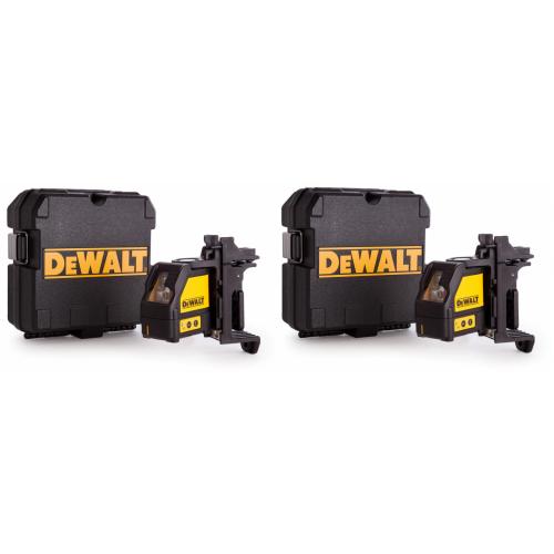 2 x DW088K DeWALT 2 krypčių savaime susireguliuojantis lazeris