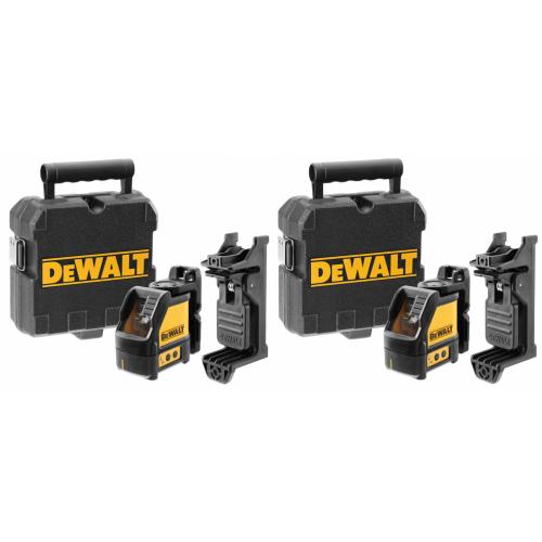 2 x DW088CG DeWALT Lazerinis nivelyras 3xAA baterijos