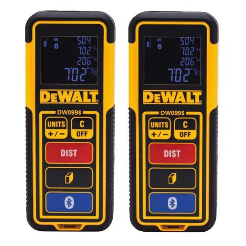 2 x DW099S DeWALT lazerinis atstumų matuoklis