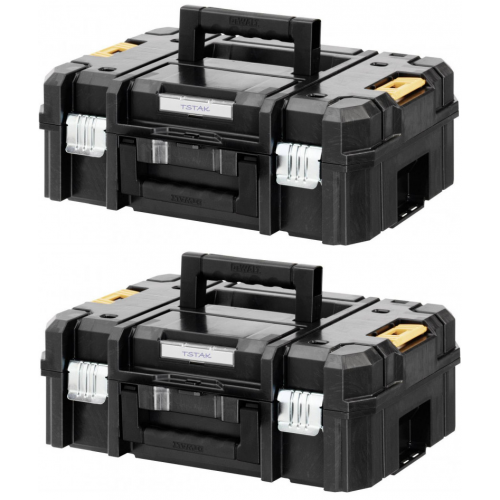 2 x DWST1-70703 DeWALT TSTAK II įrankių dėžė