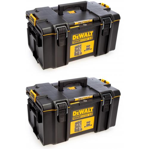 2 x DWST83294-1 DeWALT TOUGHSYSTEM 2.0 DS300 vidutinė dėžė