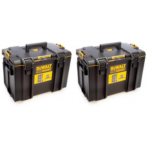 2 x DWST83342-1 DeWALT TOUGHSYSTEM 2.0 DS400 didelė dėžė