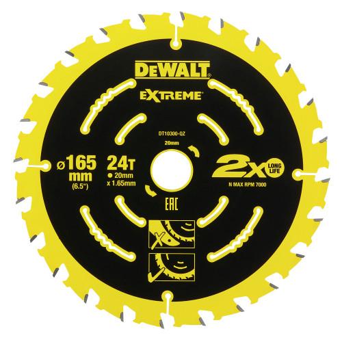 DT10300 DeWALT pjovimo diskas 165 mm