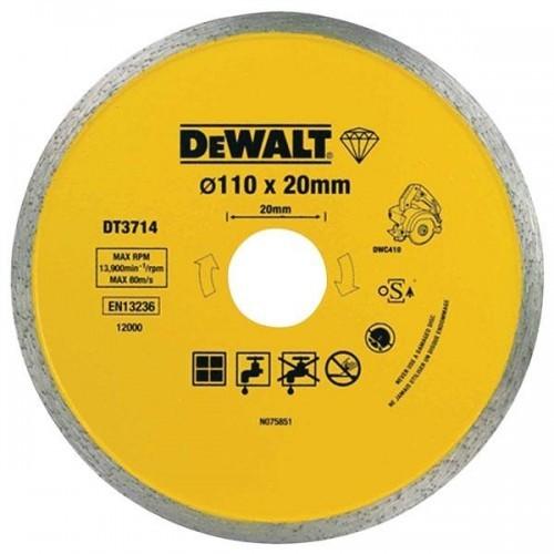 DT3714 DeWALT deimantinis pjovimo diskas 110x20 mm