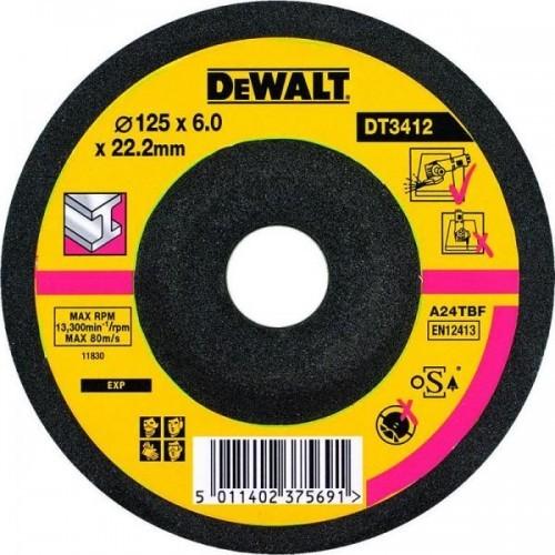 DT3412 DEWALT Šlifavimo diskas 125x6 mm