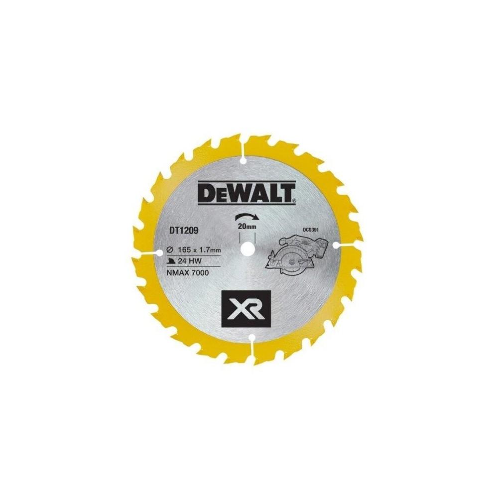 DT1209 DeWALT 165mm x 20mm x 24T diskas