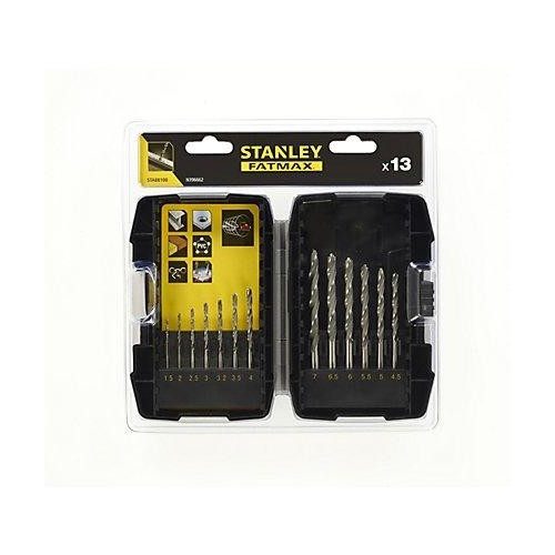 STA88100 Stanley 13 dalių grąžtų rinkinys