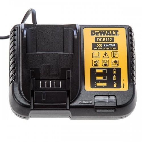 DCB112 DeWALT 10.8 V, 14.4 V ir 18 V XR Li-Ion baterijų kroviklis
