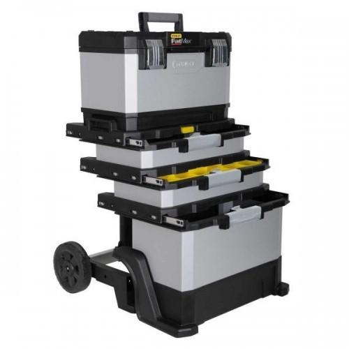 1-95-622 Stanley FatMax metalinė- plastikinė įrankių dėžė ant ratukų