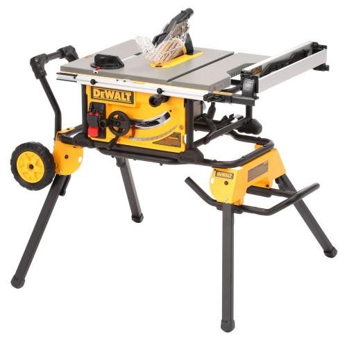 DWE7491 DeWALT stalinės pjovimo staklės + DWE74911 DeWALT stalinių pjovimo staklių stovas
