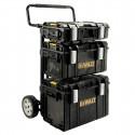 1-70-349 DeWALT TOUGHSYSTEM Vežimėlio ir dėžių komplektas + DeWALT radija + baterija