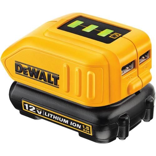 DCB090 DeWALT baterijų adapteris USB krovimui
