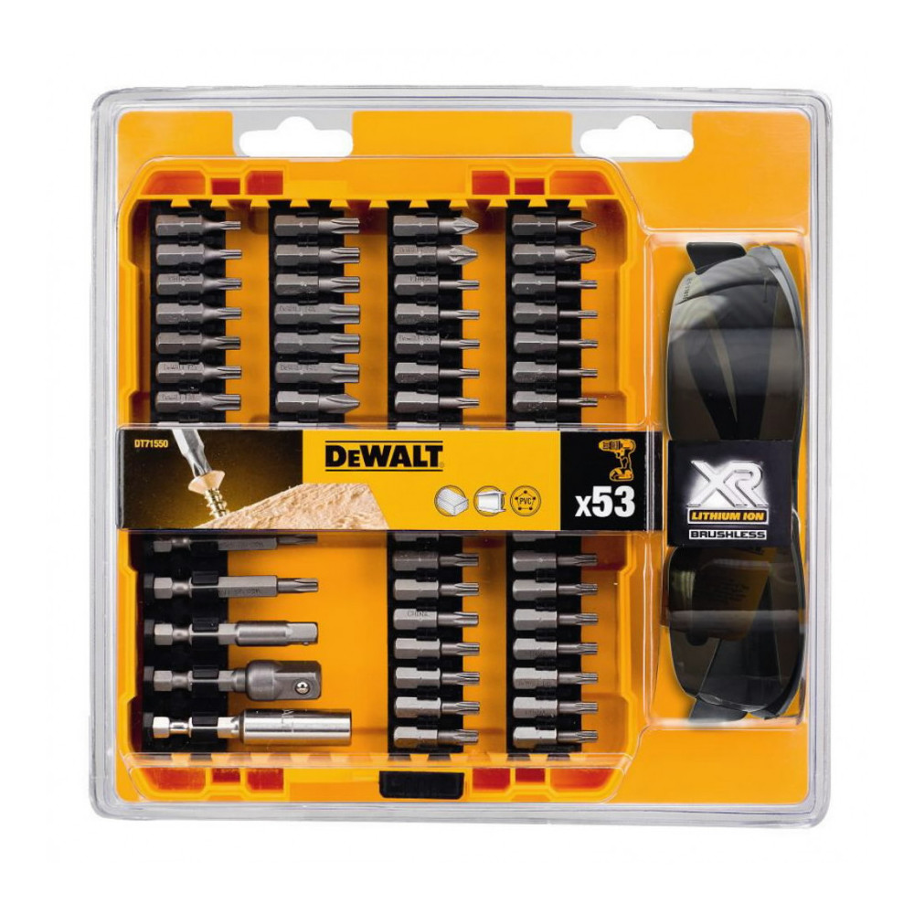 DT71550&DW DeWALT 53 vnt. sukimo antgalių rinkinys