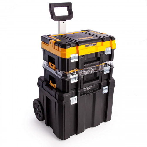 DWST1-81049 DeWALT TSTAK vežimėlio ir dėžių komplektas