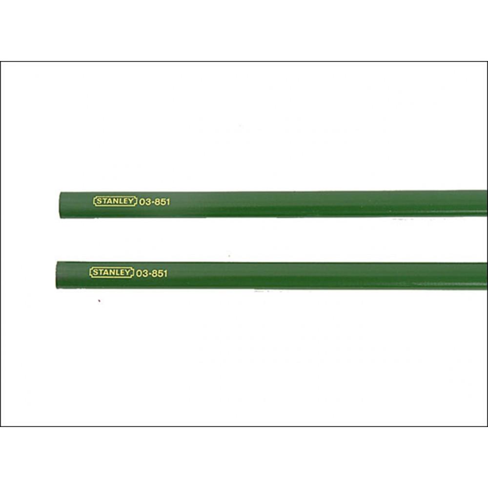 0-93-932 2 žali staliaus pieštukai